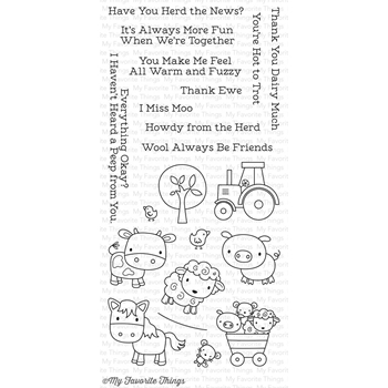 My Favorite Things FARM FRIENDS Clear Stamps CS178
