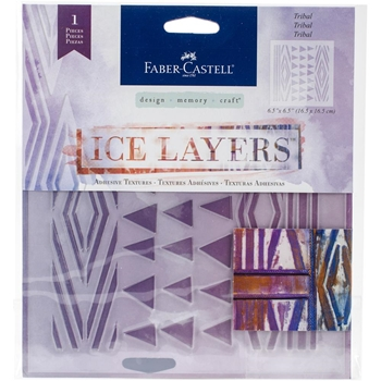 Faber-Castell TRIBAL ICE LAYERS Adhesive Textures 770625