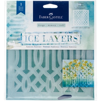 Faber-Castell LATTICE ICE LAYERS Adhesive Textures 770627