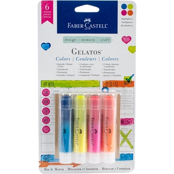 Faber-Castell HIGHLIGHTERS Gelatos Designer Colors 770174