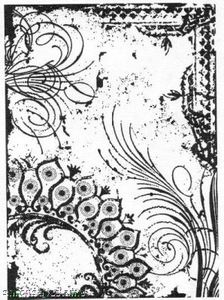 Tim Holtz Cling Rubber ATC Stamp FLOURISH Stampers Anonymous COM001