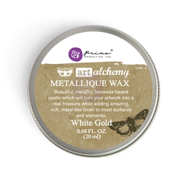 Prima Marketing WHITE GOLD Art Alchemy Metallique Wax 964016
