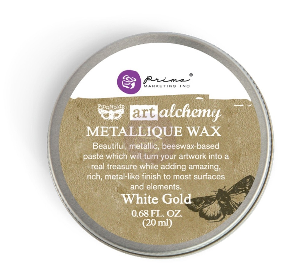 Prima Marketing WHITE GOLD Art Alchemy Metallique Wax 964016 zoom image