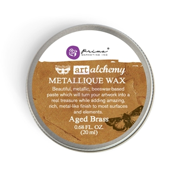 Prima Marketing AGED BRASS Art Alchemy Metallique Wax 963965