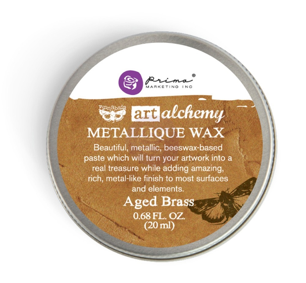 Prima Marketing AGED BRASS Art Alchemy Metallique Wax 963965 zoom image