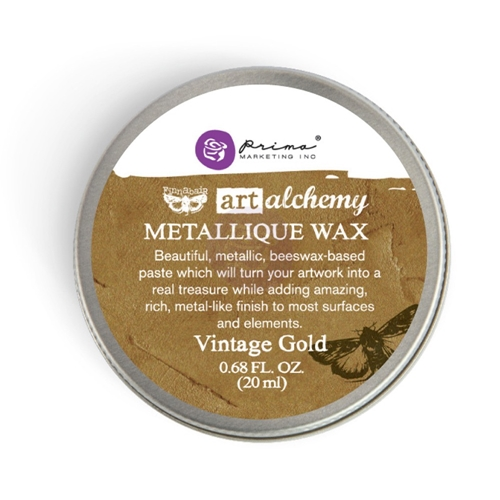 Prima Marketing VINTAGE GOLD Art Alchemy Metallique Wax 963958 Preview Image