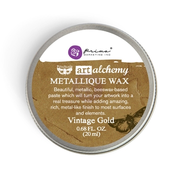 Prima Marketing VINTAGE GOLD Art Alchemy Metallique Wax 963958
