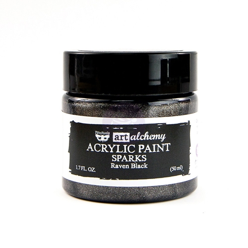 Prima Marketing SPARKS RAVEN BLACK Art Alchemy Acrylic Paint 964146 Preview Image