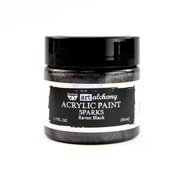 Prima Marketing SPARKS RAVEN BLACK Art Alchemy Acrylic Paint 964146