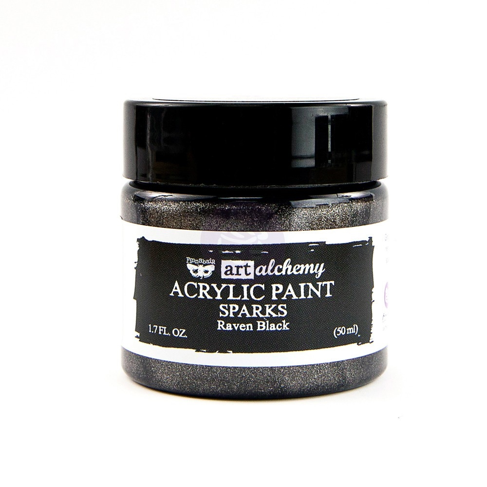 Prima Marketing SPARKS RAVEN BLACK Art Alchemy Acrylic Paint 964146 zoom image