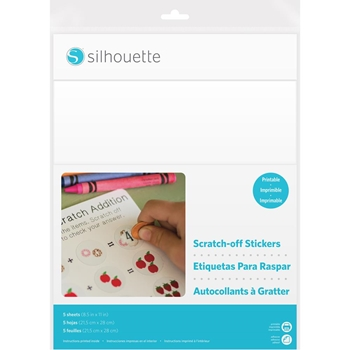 Silhouette PRINTABLE White Scratch Off Sticker Sheets 02200