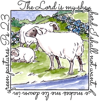 Art Impressions SHEPHERD WINDOW To The World Cling Rubber Stamp M4882