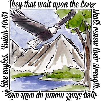 Art Impressions EAGLES WINDOW To The World Cling Rubber Stamp M4880