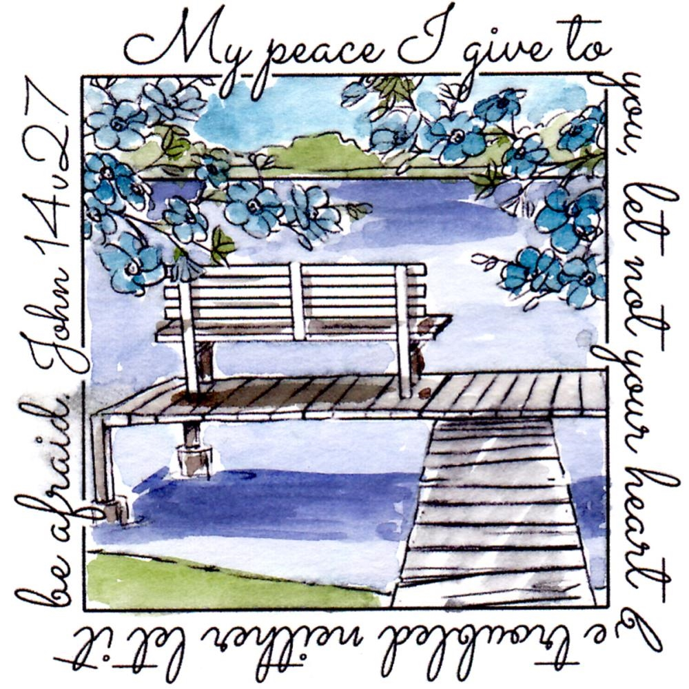Art Impressions PEACE WINDOW To The World Cling Rubber Stamp M4881 zoom image