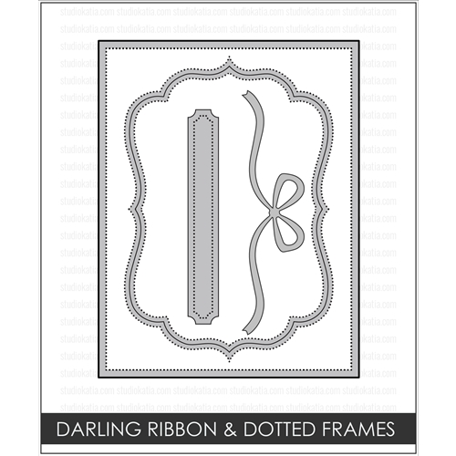 Studio Katia DARLING RIBBON AND DOTTED FRAMES Creative Dies STK014 Preview Image