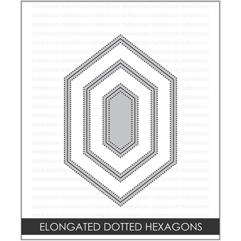 Studio Katia ELONGATED DOTTED HEXAGONS Creative Dies STK017