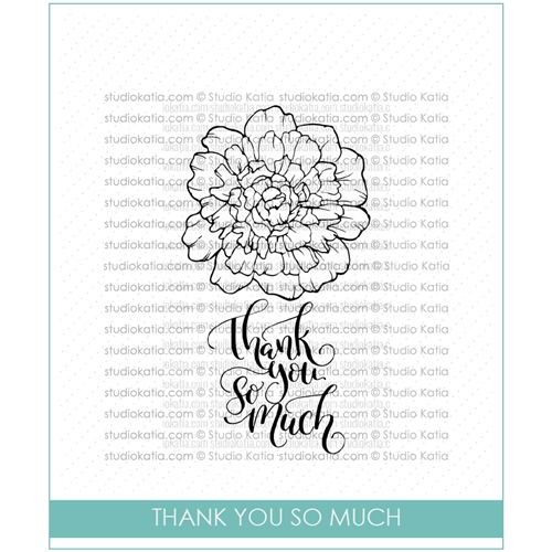 Studio Katia THANK YOU SO MUCH Clear Stamps STKS015 Preview Image