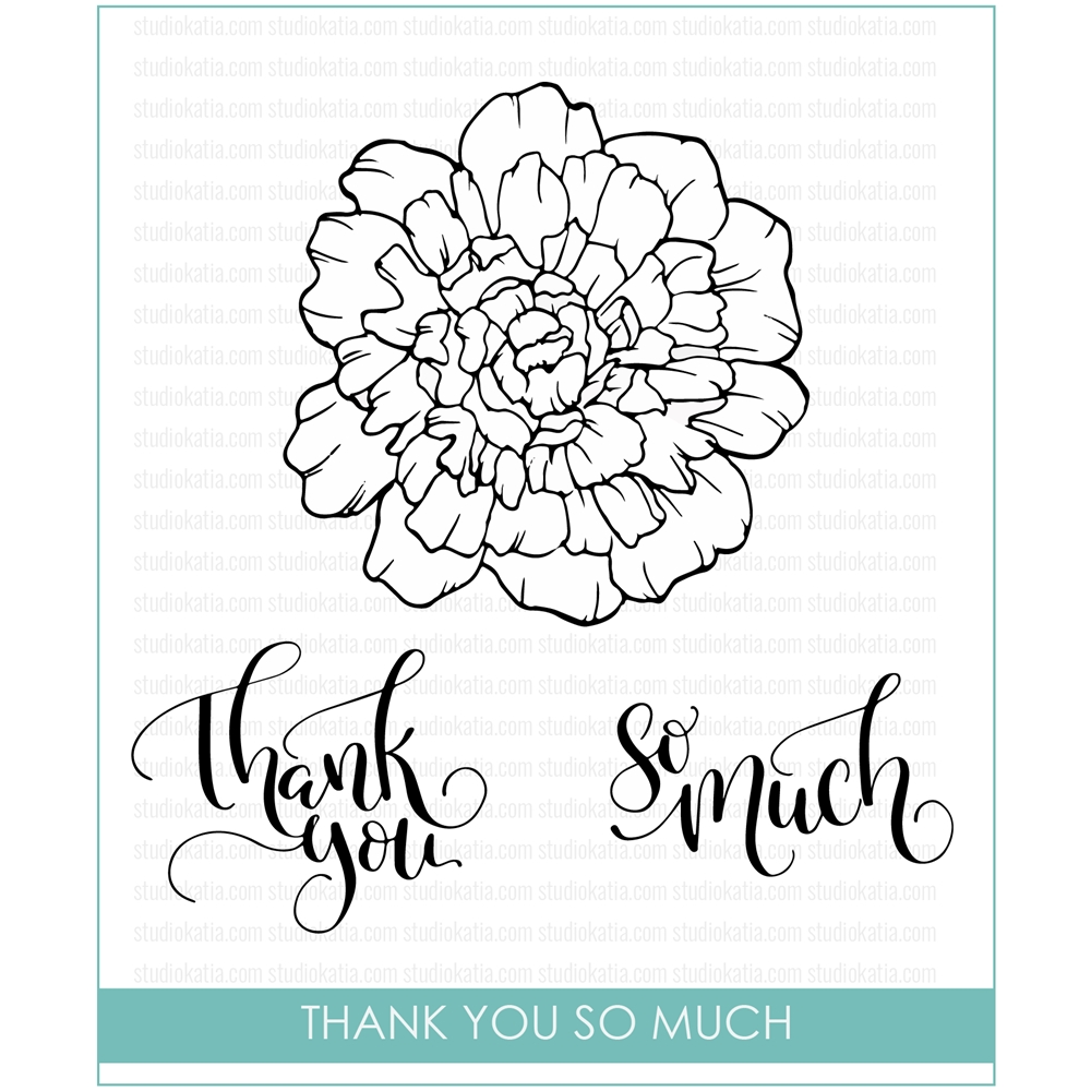 Studio Katia THANK YOU SO MUCH Clear Stamps STKS015 zoom image