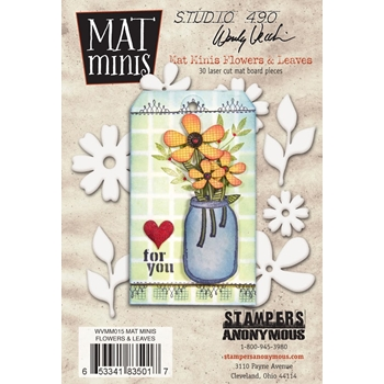 Wendy Vecchi Mat Minis FLOWERS AND LEAVES Studio 490 WVMM015