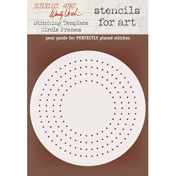 Wendy Vecchi Stencils For Art STITCHING TEMPLATE CIRCLE FRAMES Studio 490 WVSFA054