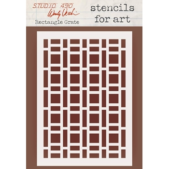 Wendy Vecchi Stencils For Art RECTANGLE GRATE Studio 490 WVSFA050