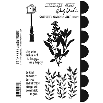 Wendy Vecchi Cling Rubber Stamps COUNTRY GARDEN ART Studio 490 SCS151