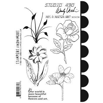 Wendy Vecchi Cling Rubber Stamps MIX AND MATCH ART Studio 490 SCS150