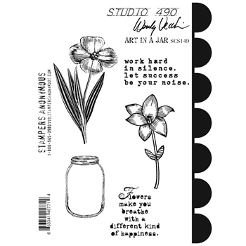 Wendy Vecchi Cling Rubber Stamps ART IN A JAR Studio 490 SCS149
