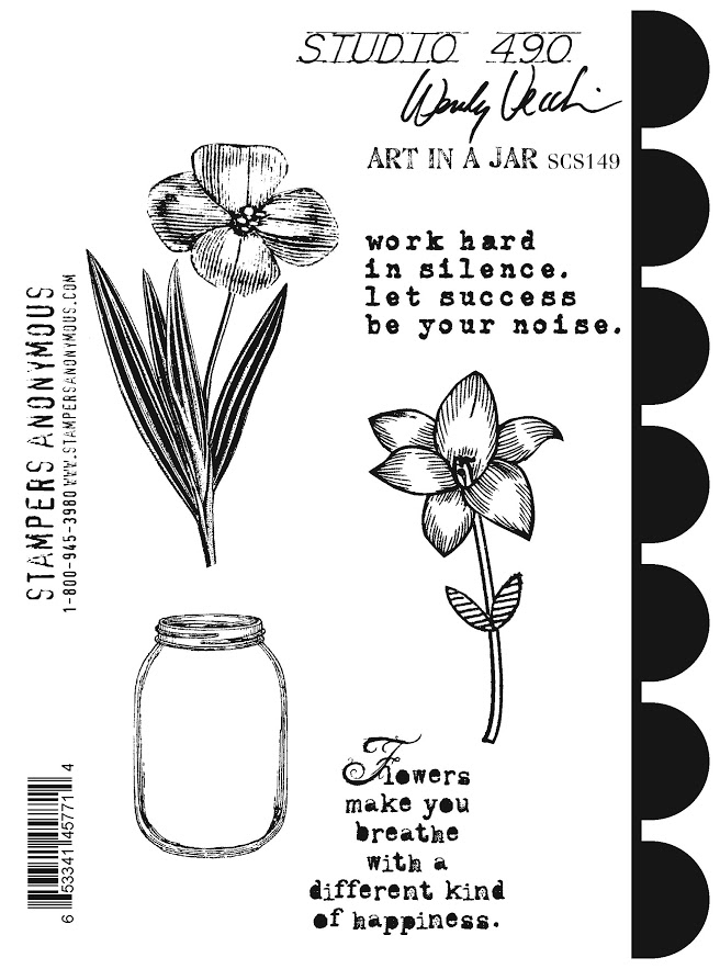 Wendy Vecchi Cling Rubber Stamps ART IN A JAR Studio 490 SCS149 zoom image