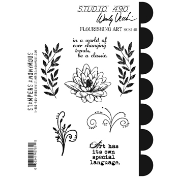 Wendy Vecchi Cling Rubber Stamps FLOURISHING ART Studio 490 SCS148