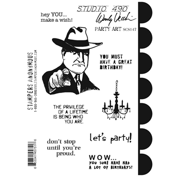 Wendy Vecchi Cling Rubber Stamps PARTY ART Studio 490 SCS147