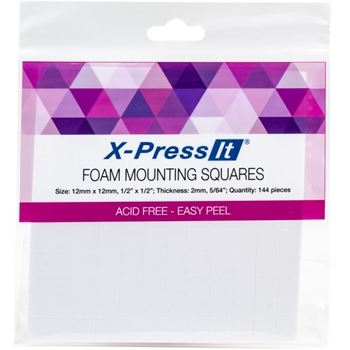 Copic Marker X-Press It FOAM MOUNTING SQUARES 1/2 X 1/2 Inch FTS12