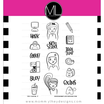 Mommy Lhey YES, I CAN! Clear Stamp Set MLD175