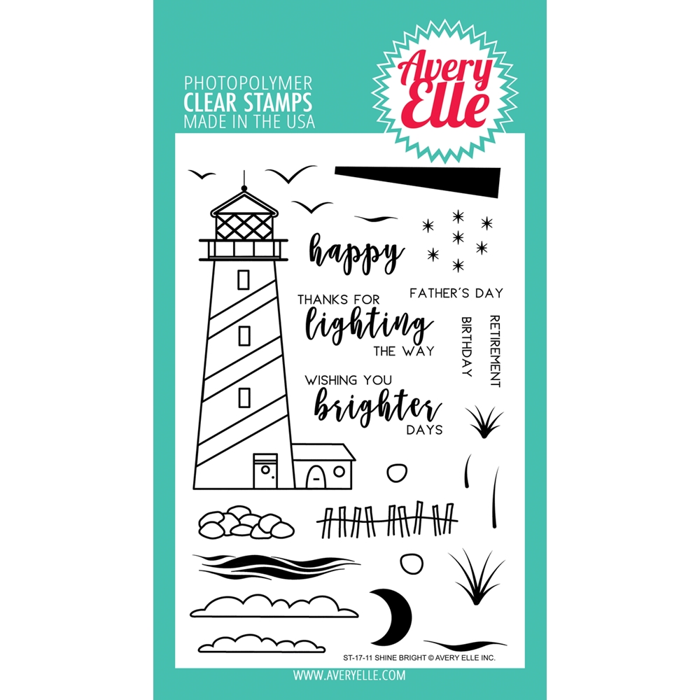 Avery Elle Clear Stamp SHINE BRIGHT Set ST-17-11 zoom image