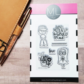 Mommy Lhey LOVE IN FULL BLOOM Clear Stamp Set MLD178