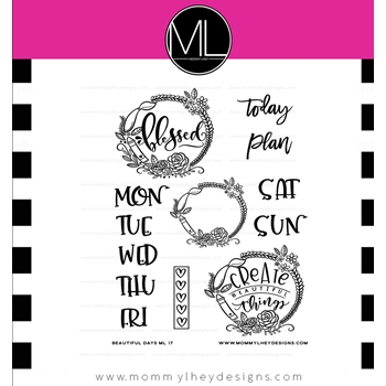 Mommy Lhey BEAUTIFUL DAYS Clear Stamp Set MLD177