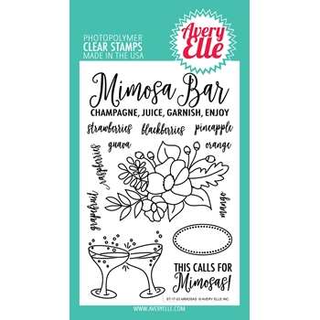 Avery Elle Clear Stamps MIMOSAS Set 024946