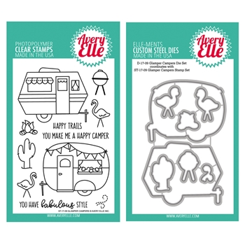 Avery Elle Clear Stamp and Die SETGCAE Glamper Campers SET