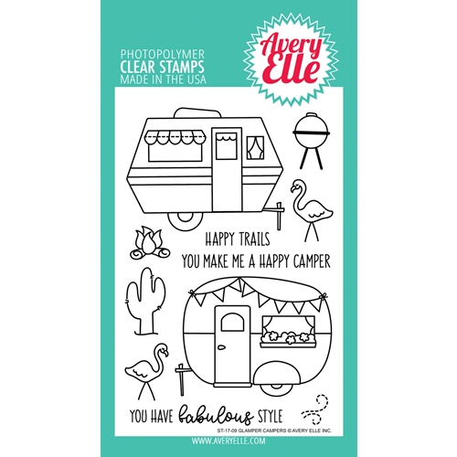 Avery Elle Clear Stamps GLAMPER CAMPERS Set ST-17-09 Preview Image