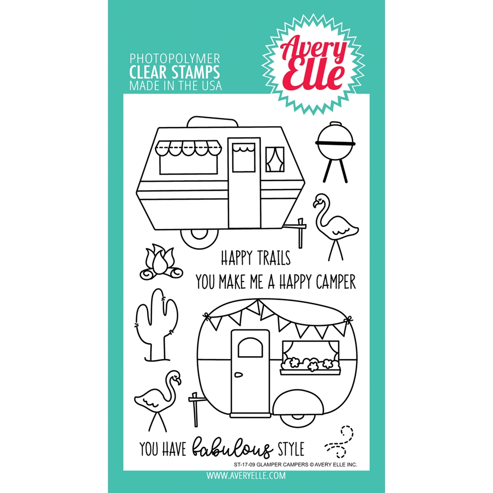 Avery Elle Clear Stamps GLAMPER CAMPERS Set 025004 zoom image
