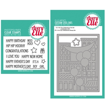 Avery Elle Clear Stamp and Die SETCTCAE City Celebrations SET