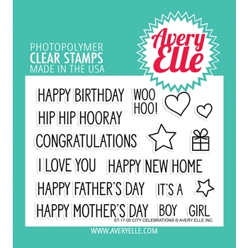 Avery Elle Clear Stamps CITY CELEBRATIONS Set 024960