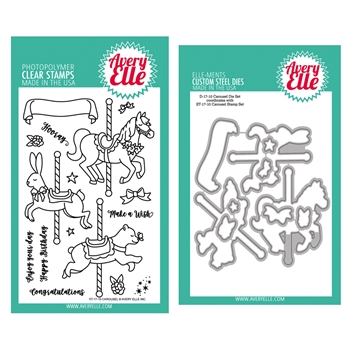 Avery Elle Clear Stamp And Die SETCAAE Carousel SET
