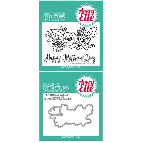 Avery Elle Clear Stamp and Die SETMDAE Mothers Day SET Preview Image