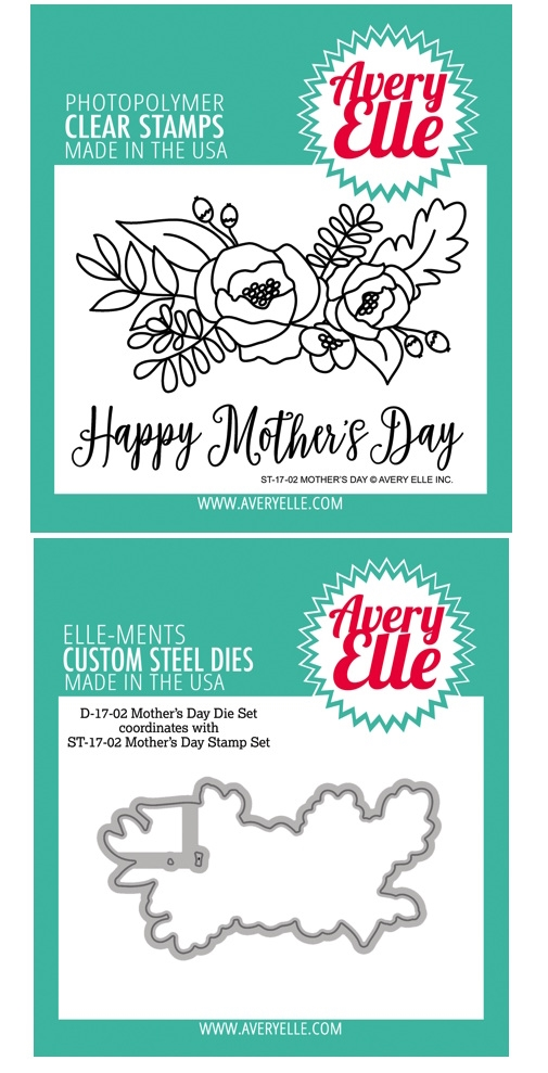 Avery Elle Clear Stamp and Die SETMDAE Mothers Day SET zoom image