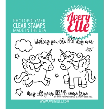 Avery Elle Clear Stamps PEGASUS DUO Set 024977