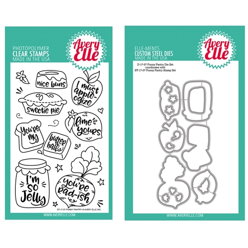Avery Elle Clear Stamp and Die SETPPAE Punny Pantry SET* Preview Image