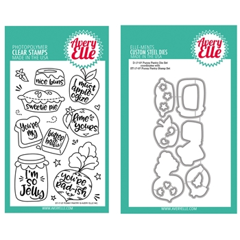 Avery Elle Clear Stamp and Die SETPPAE Punny Pantry SET