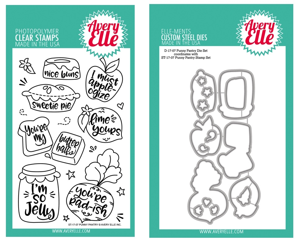 Avery Elle Clear Stamp and Die SETPPAE Punny Pantry SET zoom image