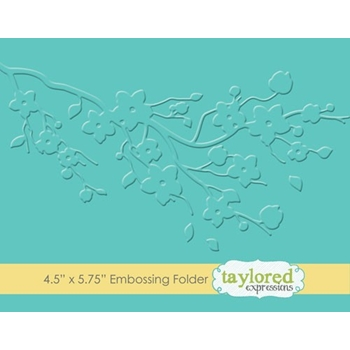 Taylored Expressions CHERRY BLOSSOM Embossing Folder TEEF63